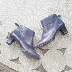 Paul Green Metallic Ankle Booties